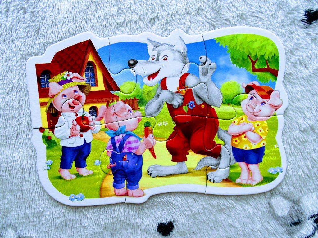 puzzle dla dzieci 3 świnki