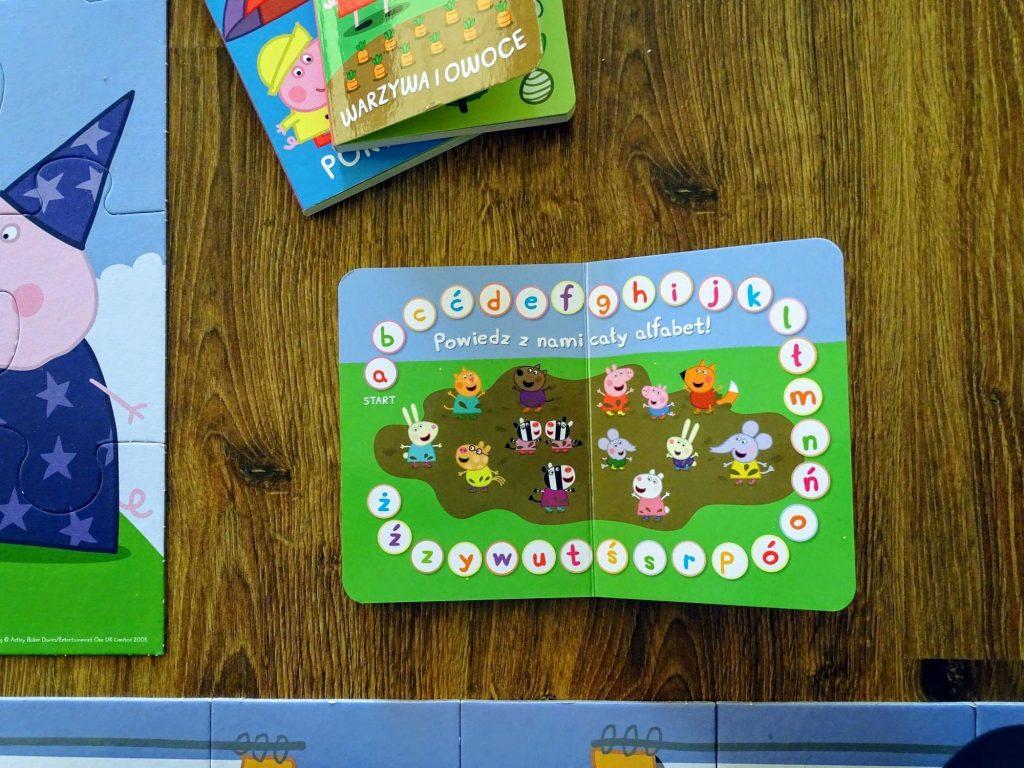 świnka peppa książeczka znam alfabet