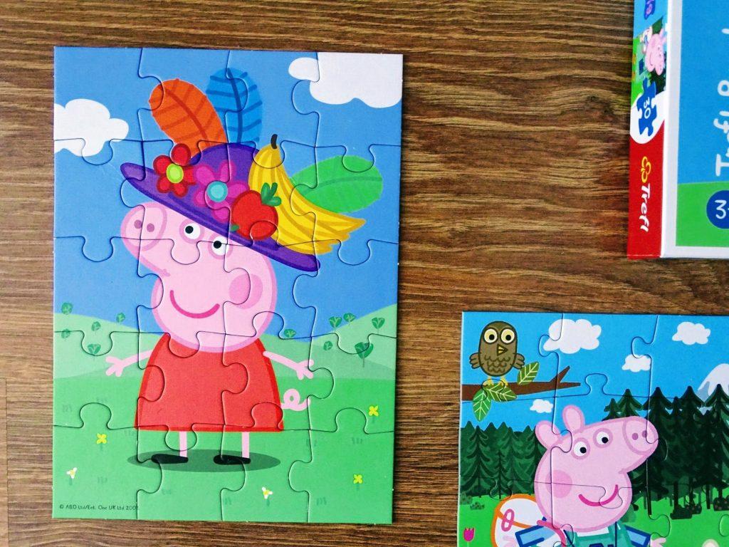 puzzle świnka peppa w kapeluszu