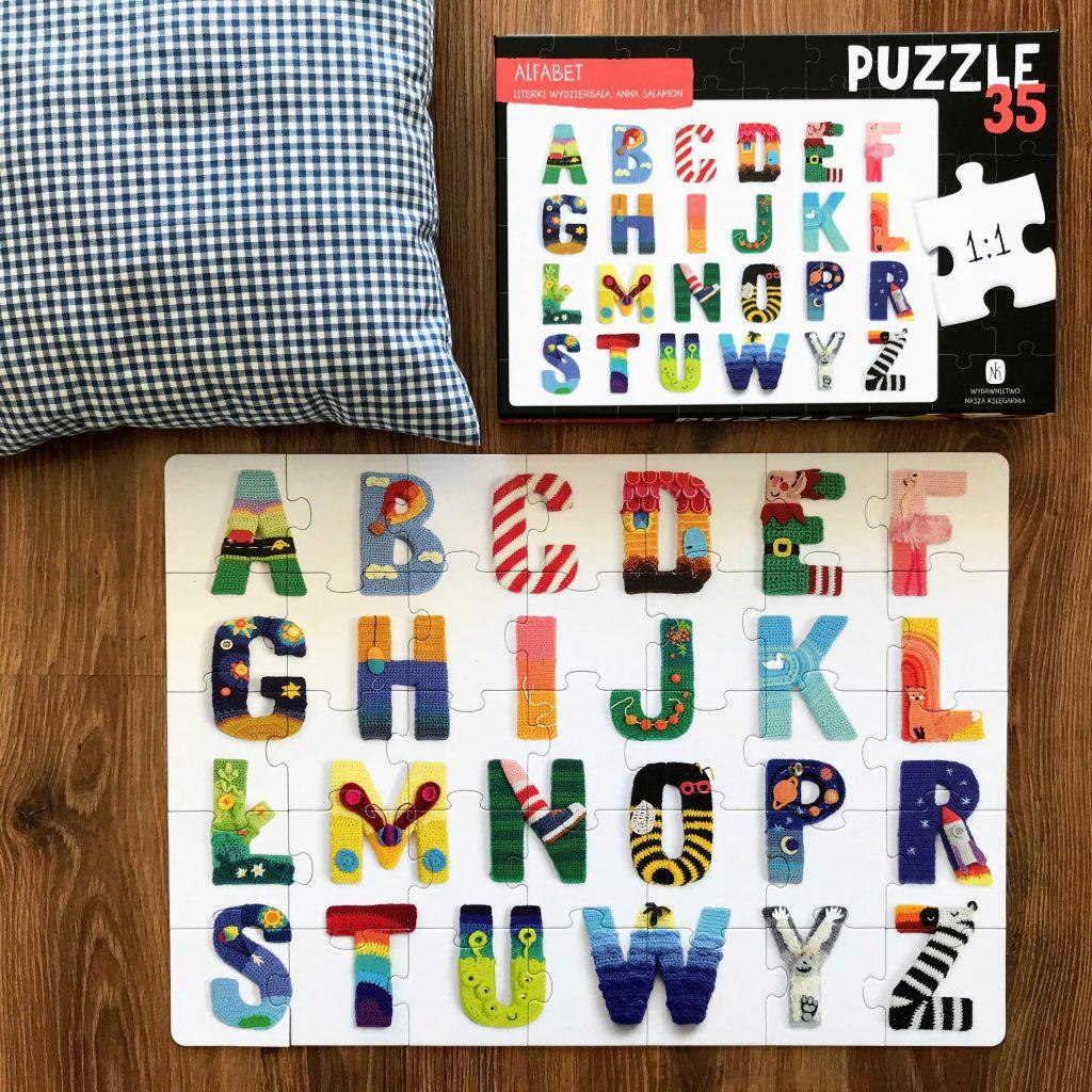 Puzzle alfabet nasza księgarnia