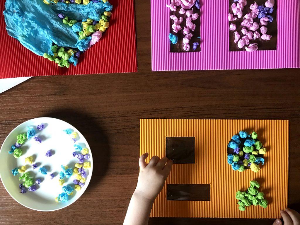 wyklejanki z bibuły dla dzieci